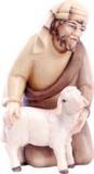 4513 Hirte kniend mit Schaf