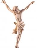 2303 L - Corpus Lindenholz mit INRI Schild, handgeschnitzt - ohne Kreuz