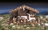 4100 Barock Krippe mit Stall