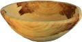 runde Holzschale aus Lindenholz, handarbeit